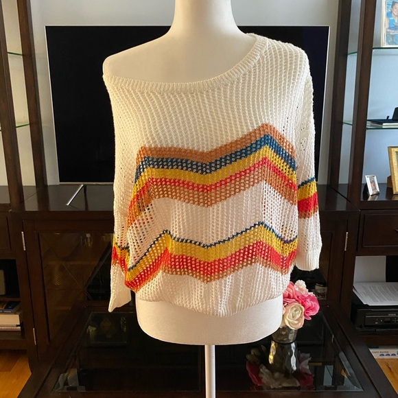 Express Tops - NWT*Express Chevron light knitted sweater